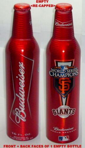 MLB BASEBALL SAN FRANCISCO GIANT WORLD SERIES BUDWEISER ALUMINUM BOTTLE BEER CAN