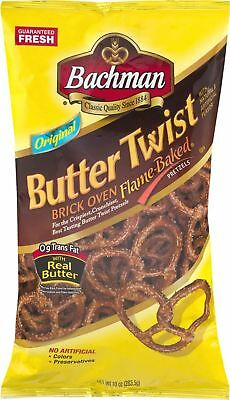 Bachman Butter Twist Pretzels 10 oz. Bag (3 Bags)