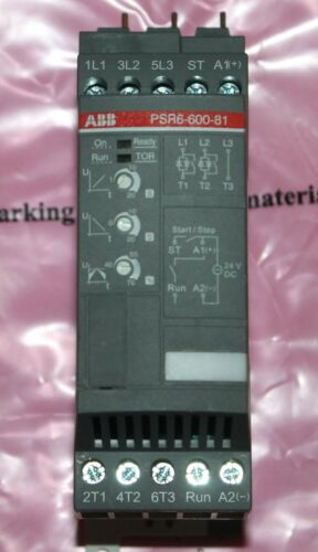 ABB PSR6 600 81 208-600V 24VDC 1-5 HP Soft Starter 1SFA896104R8100