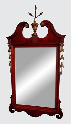 1930's CHIPPENDALE STYLE PRINCE OF WALES MOTIF ADAMS FASHIONED MAHOGANY MIRROR-