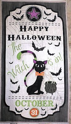 HALLOWEEN FABRIC PANEL EVERY WITCH WAY WILMINGTON PRINTS THE WITCH IS IN NEW