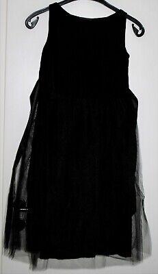 Moderne Menovove Mädchen Kleid Party  Stretch schwarz Gr.XS 11-13 Jahr Neu