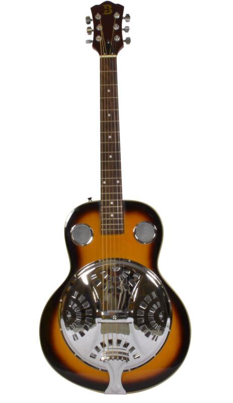 Resonator Guitar Full Size, Quality High Gloss Finish & Spider Style Resonator
