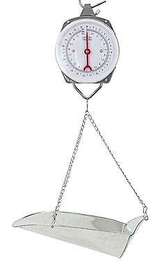 22lb Hanging Dial Scale w/ Basket Scoop for Food Produce Feed Hardware 10kg lbs