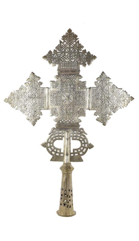 Ethiopian Coptic Processional Cross Large African Art 30 Inch