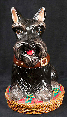 Used, David's Cookie Jar Jeffrey Banks Aberdeen Terrier Scottie Dog Scotty Holiday for sale  Shipping to Canada