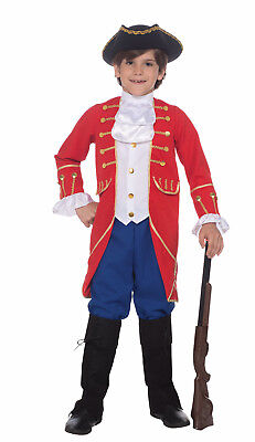 FOUNDING FATHER COLONIAL PATRIOT BOOK REPORT HALLOWEEN COSTUME BOY'S MEDIUM