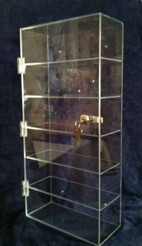 Clear Acrylic Display Tower Case 10 x 4.5 x 22 (different shelf spacing avail)