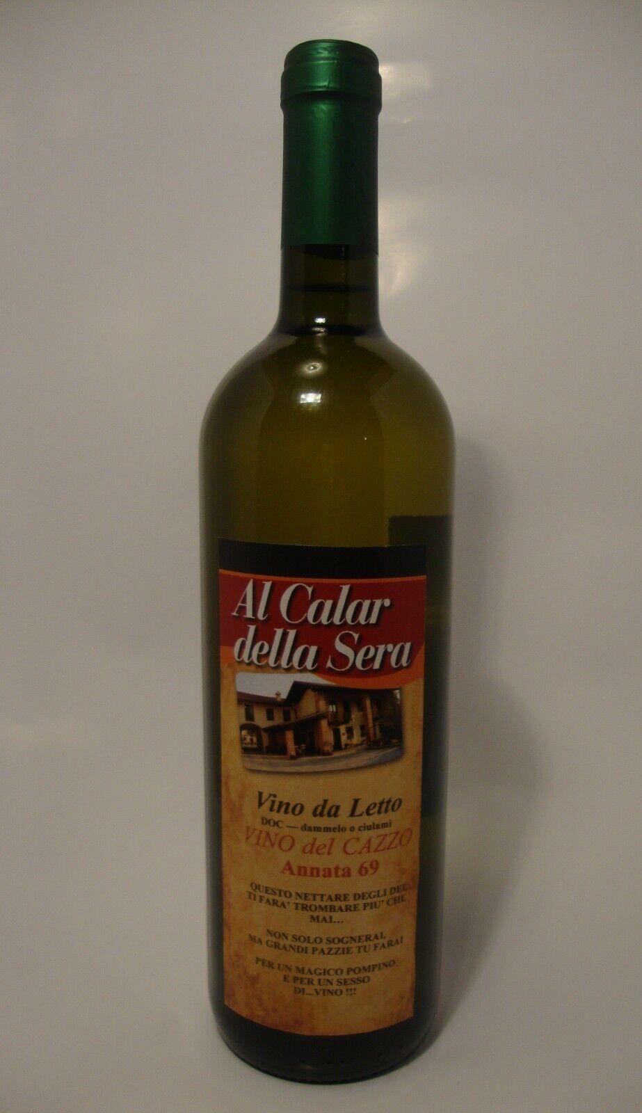 VINO DEL CAZZO, vino bianco arneis, bottiglia da cl. 75