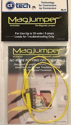 Magjumper   Magnetic Tip Jumper Hvac Testing Troubleshooting Tool  Yellow