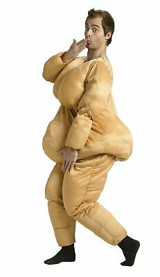 Padded Naked Skin Adult Halloween Costume Big Butt Boobs New (Fat Suit)