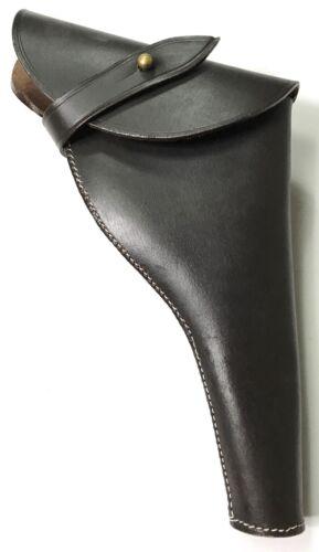British WWI & WWII .455 Webley Revolver Dark Brown Leather Holster