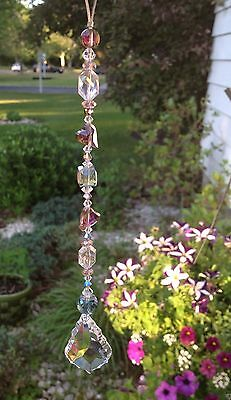 Healing Crystal Heart Suncatcher/Prism W/Swarovski Elements French Drop -