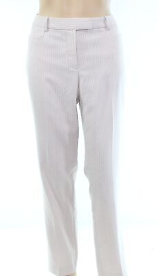 Tommy Hilfiger Women's Pants Pink Size 8X31 Stretch Textured Stripe $89 #092