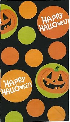 Happy Halloween Paper Lunch Bag Goody Treat Party Favor Sack 4ct Jack O'Lantern (Happy Halloween Goodie Bags)