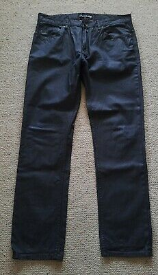 Razors by Jag waxed cotton jeans black size 38 excellent condition