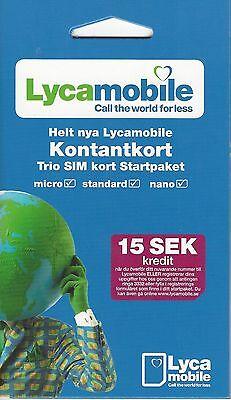 Schweden SIM Karte mit 15 SKR Guthaben