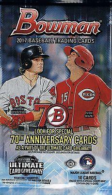 2017 Bowman Baseball Hobby Guaranteed Autographed Rc Card Hot Pack