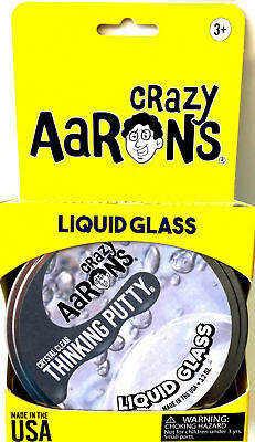 Liquid Glass Crystal Clear Crazy Aarons Thinking Putty Large 4 Inch Tin 3 2Oz