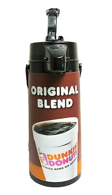 Dunkin Donuts Airpot Glass Lined Commercial Pump Coffee Dispenser Glass Lined