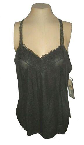 New vintage Camisole, Deena, Nylon Black 2215 NWT 36