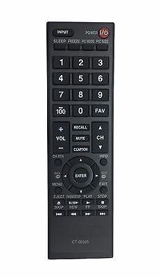 Brand New Remote CT90325 for TOSHIBA TV 32C100U2 32C100UM 37E20U 55G310U 90325