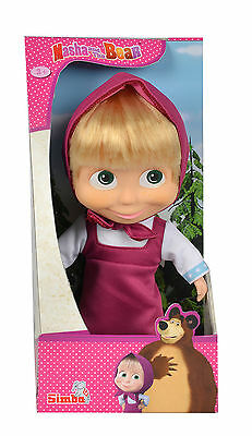 109306372 Masha and the Bear 23cm Soft Body Masha Doll Toy Girls Children Age 3+