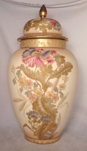 """20"""" Royal Bonn Urn Vase German Porcelain Ginger Jar Flowers Gilded Franz Mehlem"""