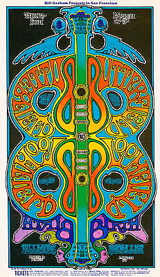 MINT/PSYCHEDELIC Butterfield Blues Band 1969 BG 166 Fillmore Poster