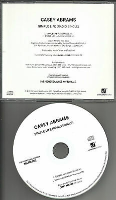 American Idol CASEY ABRAMS Simple life 2TRX w/ RARE RADIO MIX PROMO DJ CD single
