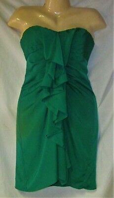 Women's Green Strapless Cocktail Dress Size 2 BCBGMaxazria - Green Strapless Cocktail
