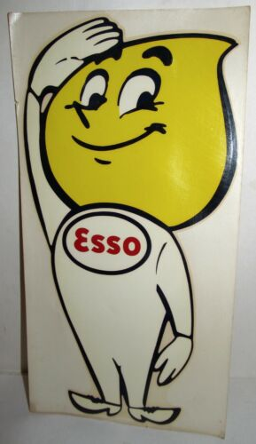 "Esso 12"" Oil Drop Man Decal, Vintage 1961 Palm Brothers Decalomania Co."