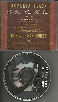 ROBERTA FLACK & MAXI PRIEST Set the Night w/ EDIT PROMO DJ CD single to (Maxi Priest Set The Night To Music)