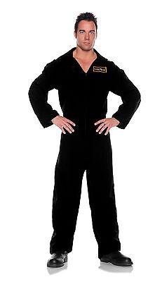 CORONER black jumpsuit CSI adult mens womens halloween costume plus XXL