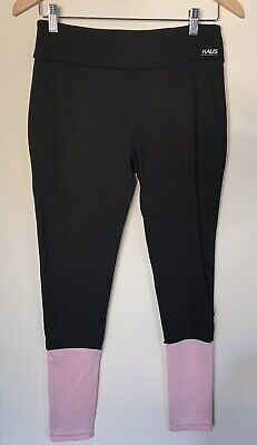 Haus by Hoxton Haus Track Women's Workout Pants in Black/Pink UK Size L(12/14)