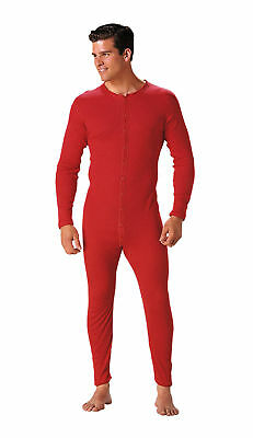 Red Union One Piece Long Sleeve Thermal Underwear 6453 (Long Sleeve Thermal Long Underwear)