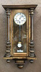 Vintage German Wall Clock Circa 1880's Vienna Regulator