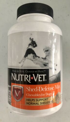 Nutri-Vet Shed-Defense Max Chewables for Dogs, 60 count
