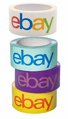 Ebay-branded Packaging Shipping Tape 2 X 75 Yards Blue Purple Yellow White