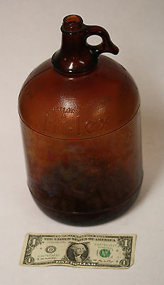 Antique Amber Glass 1 Gallon Hi-lex Jug - Duraglas