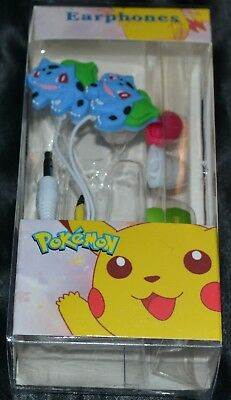 Used, Bulbasaur Ear Buds Headphones Headset Head Set Phones Head Phones Pokemon Earbud for sale  Shipping to India