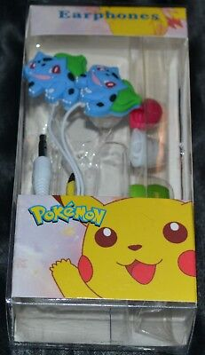 Bulbasaur Ear Buds Headphones Headset Head Set Phones Head Phones Pokemon Earbud, used for sale  Shipping to India
