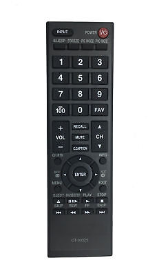 "1 × CT-90325 Remote for TOSHIBA 32C100U2 32C100UM 32C110U 32DT1 TV ""494"""