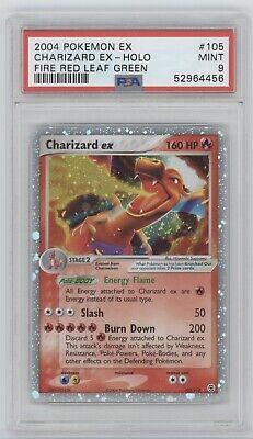 Pokemon 2004 Fire Red Leaf Green CHARIZARD EX 105/112 Holo PSA 9 Mint 52964456