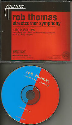 Matchbox 20 ROB THOMAS Streetcorner Symphony RADIO EDIT PROMO CD single Twenty