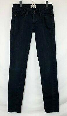 Levi's Slight Curve Skinny Womens Black Jeans Ankle 5 Pocket Badge W 27