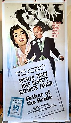 Father of the Bride Original Movie Poster Three Sheet Linen Backed 3SH 3 Sheet](Father Of The Bride 3)