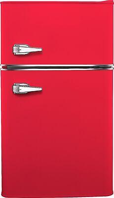 Insignia- 3.1 cu. ft. Retro Mini Fridge with Top Freezer - Hot rod red