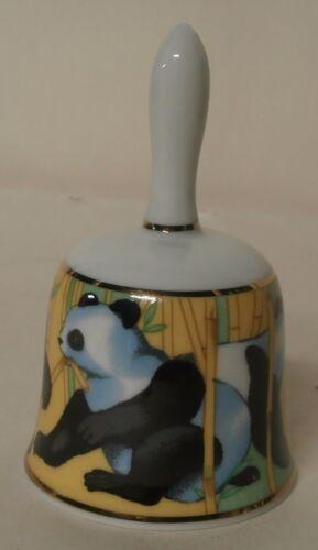 Marutoyo Japan Porcelain Bell - Pandas - s5c