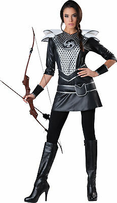 Midnight Huntress Adult Women Costume Katniss Hunger Games Theme Party Halloween - Hunger Games Themed Games